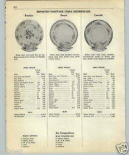 1952 PAPER AD 5 PG Noritake China Dinnerware Naomi Carmela Ironstone Blue Willow