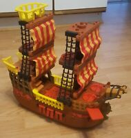 Fisher Price Imaginext Pirate Ship Adventures 2006 Brown Red Boat