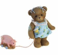 RARE CHERISHED TEDDIES 2010 FIGURINE, MARY ELLEN, PULL TOY PIG, 4016850, NIB