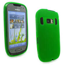 Green Jelly Gel Case Cover for Nokia C7-00 + Screen Grd