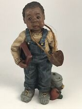"Sarah's Attic ""Boy With Chalkboard"" Limited Edition Figurine Hand-Numbered #659"