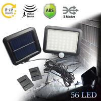 56 LED Garden Outdoor Solar Powered Motion Sensor Light Security Yard Flood Lamp