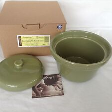 Sage Green Round Roundabout Casserole with Lid 66 ounces Longaberger new