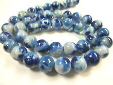 Jade Kugeln Perlen rund 10mm 1 Strang blau sky blue