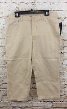 Chaps capris womens 10 cropped Pants Khaki beige New M3