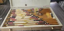 Master Pin Gage Standard Set In Wood Box