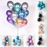 "10Pcs 10"" Chrome Balloons Bouquet Birthday Party Decor  Wedding Shiny"
