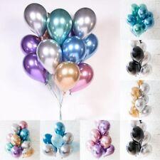 """10Pcs 10"""" Chrome Balloons Bouquet Birthday Party Decor Metallic Wedding Shiny"""