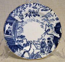 "Royal Crown Derby Blue Mikado 6"" Bread Plate Scalloped Rim"