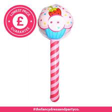 15x 76cm Inflatable Cupcake Lollipop Stick Fancy Dress Blow Up Toy Party Filler