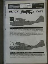 1/48 Yellowhammer/ Cutting Edge BLACK CATS PBY-5, 5A CATALINA Nose Art Decal OOP