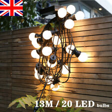 More details for 13m mains power g50 string festoon lights led bulbs party wedding outdoor garden