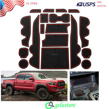 Custom Fit Cup Door Console Liner Accessories Fit For 16-19 Toyota Tacoma US