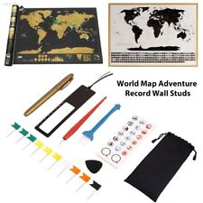 Personalized Travel Atlas Scratch Off World Map Line Planning Marking Tool 0E97