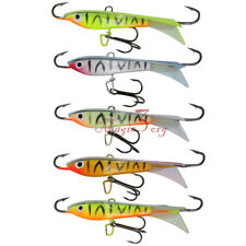 5pcs 5/16oz Ice Fishing Jigging Rap Winter Vertical Lead Hook Lures Bass Perch