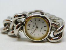 "Gruen Precision Silver Tone Chain Bracelet Quartz Analog Ladies Watch Sz. 6 1/2"""