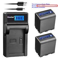 Kastar Battery LCD USB Charger for Sony NP-QM91D & Sony DCR-TRV6 DCR-TRV60