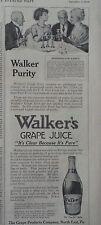 1910 Pure Walkers Grape Juice Bottle Marshmallow Dainty Recipe Original Ad