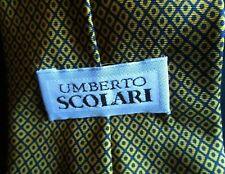 UMBERTO SCOLARI CRAVATTA TIE in SETA 100% Originale Fantasia rombi piccoli Cod.A