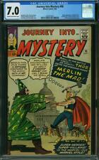 Journey into Mystery #96 CGC 7.0 -- 1963 -- Merlin Battle. JFK. #2004079021