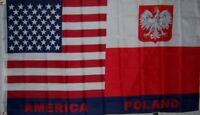 USA and Poland Friendship Polish American Flag Polyester 3 x 5 Foot New