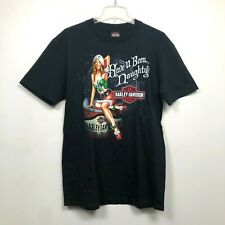 Harley Davidson 2009 Maine T Shirt Have U Been Naughty Christmas Elf Mens Size L