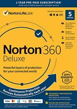 Norton 21389902 360 Deluxe 5 Devices Antivirus software Auto Renewal [Key Card]
