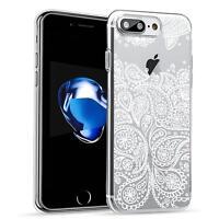 Schutz Hülle Apple iPhone 7 Hülle Silikon Handy Tasche Mandala Case Cover