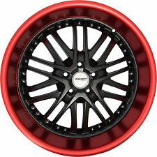 4 GWG Wheels 20 inch Black Red Lip AMAYA Rims fits MITSUBISHI LANCER GT-GTS 2008
