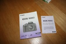 Canon EOS 1000d Instructions original english manual + POCKET GUIDE