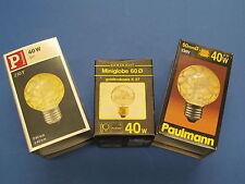 RARITÄT - PAULMANN MINI - Globelampe E27 40W G60 Krokoeis GOLD  Glühlampe