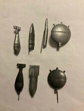 WHW Sammlung 1940 Geschosse und Munition 7 Zink Abzeichen