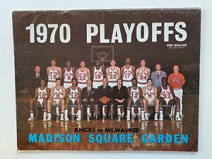 4/11/70 Milwaukee Buck @ New York Knick Playoff Program.Alcindor's Rookie Season