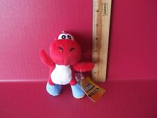 "Super Mario Bros Plush Soft Red ""Yoshi"" 5""in Plush with Key or Bag Attachment"