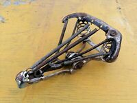 Antique Bike Seat Bicycle Spring Saddle Shell Rails Vintage Old Rusty
