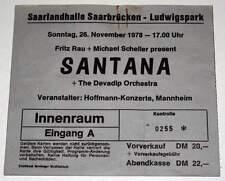SANTANA : Rare billet concert Collector ticket GERMANY 26/11/1978