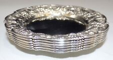 S KIRK & SON STERLING SILVER SET OF 6 REPOUSSE BUTTER PATS 17F NO MONOGRAMS 225G