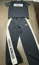 Boys under Armour outfit Black White Pants Shirt Yxl 16 Very nice see others