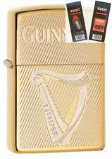 Zippo 29651 Guinness Beer Brass Lighter with *FLINT & WICK GIFT SET*