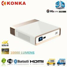4K KONKA DLP Laser Projector Android WIFI Portable 1080p Ultra Short 10000Lumens