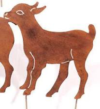 Figur Ziege mit Gummistiefel brombeer mit weissen Punkten Geschenk Gartendeko