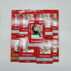 Lot 1200+ Sheets Canon Photo Paper Plus Glossy II, 4x6 inch