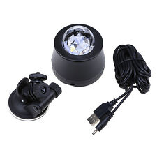 1PC Auto Car Disco DJ Stage Lighting 6LED RGB Crystal Ball Lamp Bulb Light Party