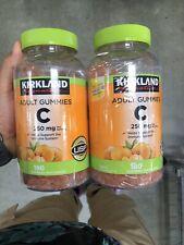 Vitamin C Adult Gummies Kirkland Signature 180 Ct 2-Pack Lot Tangerine Free Ship