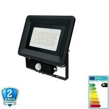 Foco Proyector LED 50W SMD 4250lm 100º IP65 Negro con Sensor