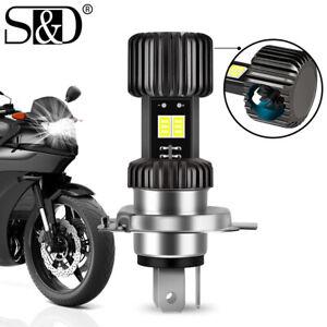 Super Bright CSP H4 LED Motorcycle Headlight 9003 HB2 Moto Bulb Hi/Lo Beam w/Fan