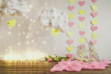 LUCI Cloud Paper Heart pibk giallo Fondale Vinile Foto di scena 7X5FT 220x150CM