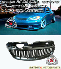 Tr Style Front Grille Abs Fits 04 05 Honda Civic 24dr Coupesedan Fits 2004 Honda Civic