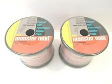 Monster Cable Mini Spool Compact High Performance Speaker Cable 50 Feet NEW 2 CT