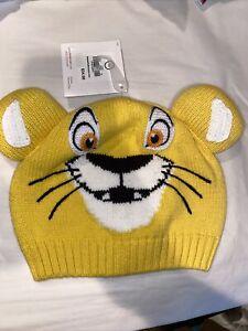 NWT HANNA ANDERSSON DISNEY Simba LION KING SWEATERKNIT HAT  CAP M 2-5 YRS MEDIUM